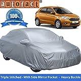 Autofact Premium Silver Matty Triple Stitched Car Body Cover with Mirror Pocket for Ford Figo New