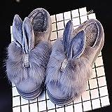YSFU Hausschuhe Innenschuh Frauen Hohe Absatz Winter Warm Warm Baumwollgewebe Schöne Schuhe Winter Außerhalb Schuhe Halten, 6