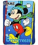alles-meine.de GmbH Kuscheldecke / Fleecedecke -  Disney - Mickey Mouse / Maus  - incl. Name - 100 cm * 140 cm - Decke aus Fleece - für Mädchen & Jungen - Schmusedecke - Schlei..