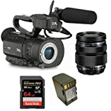 Kit Camcorder GY-LS300 JVC 4K Ready CMOS super35 - Ultra HD 24/30p 150Mbps + 1 Battery + 1 Memory Card Sandisk 64Gb - 95Mb + Lens OLYMPUS M.Zuiko Digital 12-40mm f/2.8 ED Pro Micro-FT 4:3