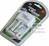 Ultima Eveready Charger with 2 AA 2100 Series mAh Ni-Mh Rechargeable Batteries