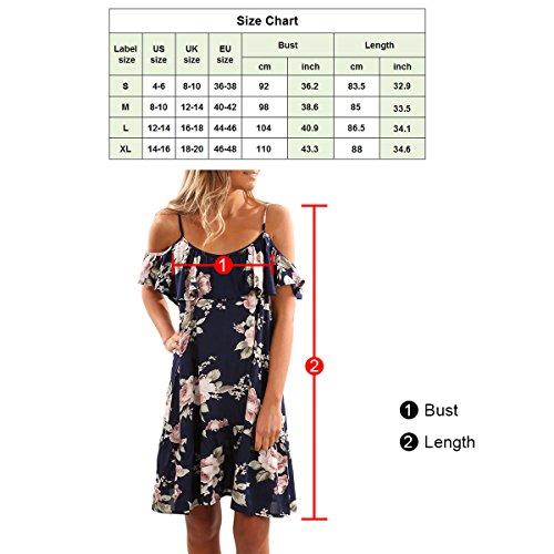 SG Spaghetti Bügel Verschiebungs Kleid Blumendrucke Rückenfrei Kleid Weiß