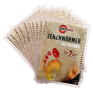 WARMPACK Zehenwärmer, 10 Paar, einfach auspacken und 7 Stunden lang Wärme genießen