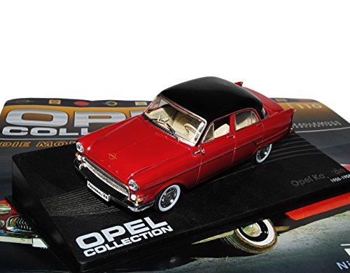 Opel Kapitän Limousine Rot Braun 1955-1958 Inkl Zeitschrift Nr 110 1/43 Ixo Modell Auto -