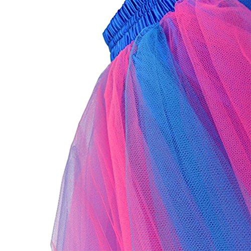Femme Tutu Jupe Ballet Jupon Mariage Jupe Courte Style Années 50 Couleurs variée pour Femme et Filles Dark blue+rosy