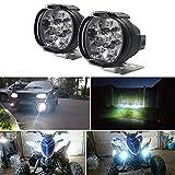 ulofpc 2 Pezzi Moto Auto Elettrica Impermeabile Illuminazione 6Led Faretto Esterno Accessori Moto
