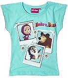 Mascha und der Bär Mädchen T-Shirt - türkis - 116