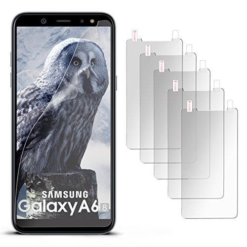 5X Samsung Galaxy A6 (2018) | Schutzfolie Matt Display Schutz [Anti-Reflex] Screen Protector Fingerprint Handy-Folie Matte Displayschutz-Folie für Samsung Galaxy A6 (2018) Displayfolie