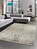 Carpetia Orientteppich Wohnzimmerteppich Vintage beige mit Fransen Größe 160x230 cm