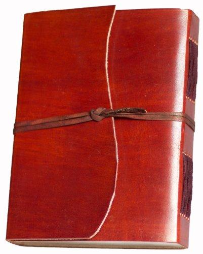 INDIARY Skizzenbuch Lederbuch aus echtem Büffelleder und handgeschöpften Papier - Circle
