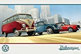 GB Eye VW Camper, Illustration Maxi Poster, Mehrfarbig, 61x 91,5cm
