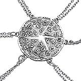 Best Amigos Collares pizzas - Un conjunto de collares de plata con forma Review