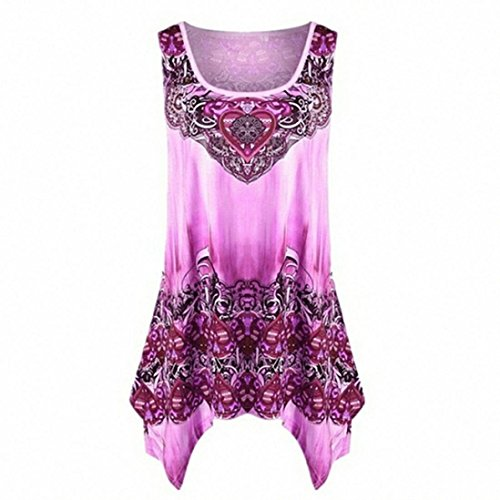 SEWORLD 2018 Damen Mode Sommer Frauen Krawatte Ärmellose Weste Top Bluse Casual Tank Lose Tops T-Shirt(X-a-Rosa,L)