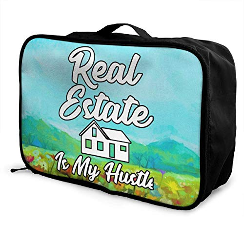 afc804ad3a Portable Luggage Duffel Bag Real Estate is My Hustle Funny Realtor Travel  Bags Carry-on