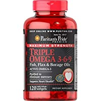 Puritan's Pride Maximum Strength Triple Omega 3-6-9, 120 Softgels