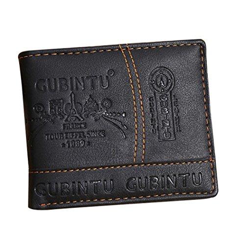 Kanpola Männer Paris PU Leder Card Geldscheinhalter Bifold Wallet (Leder Wallet Herren Bi-fold)