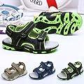 QinMM Sommer Kinder Kinder Schuhe Jungen Mädchen Strand Laufschuhe Sport Sandalen Schuhe Turnschuhe Grau Blau Grün 19-24