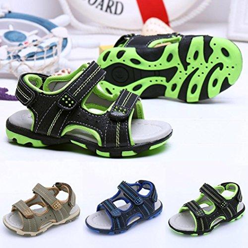 Bild von QinMM Sommer Kinder Kinder Schuhe Jungen Mädchen Strand Laufschuhe Sport Sandalen Schuhe Turnschuhe Grau Blau Grün 19-24