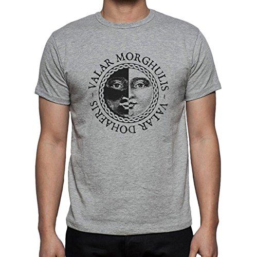 Vallar Morghulis Art Coing Flip Herren T-Shirt Grau
