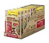 GimDog Superfood Meat Cubes Hühnchen mit Cranberries und Rosmarin | Hundesnack mit hohem Fleischanteil und Mono-Protein | ohne Zuckerzusatz | 8 Beutel (8 x 70 g)