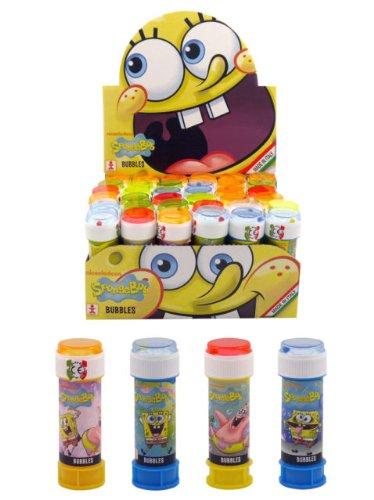 Seifenblasen 'Spongebob' mit Kugelspiel im Deckel (Modell zufällig, 6er Pack)
