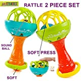 TOY-STATION Hand Bell Rattle Toy[Set Of 2]