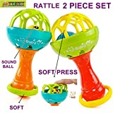 #6: TOY-STATION Hand Bell Rattle Toy[Set Of 2]