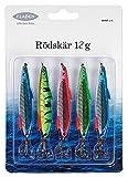 Fladen Finned Rodskar Köder, 5Stück Bleu/Vert/Rouge 12 g