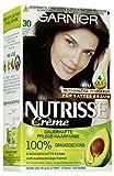 Garnier Nutrisse Creme Coloration Espresso Dunkelbraun 30, Haarfarbe mit 3 nährenden Ölen, 3er Pack