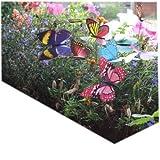 WayGo Bunte Garden-Schmetterlinge auf Spießen, 10 Stück,Durchmesser: 8cm