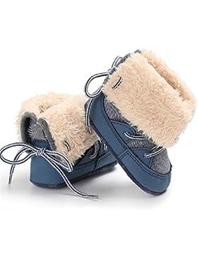 Originaltree Winter Baby warme rutschfeste Booties Stripes High Boots Prewalker Geschenk