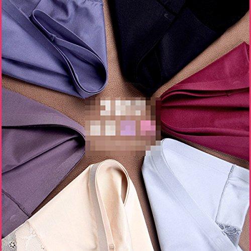 Damen Ultra-bequeme Triangular Unterwäsche Sexy Seamless-Eis-Silk Spitze-Gewebe-Taillen-Baumwollwaren Briefs (4 Pack) A3