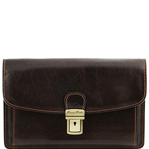 Tuscany Leather Arthur Esclusivo borsello a mano in pelle Nero Testa di Moro
