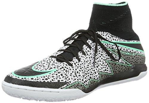 Nike Hypervenomx Proximo Ic, Scarpe da Calcio Uomo Multicolore (Blanco / Negro / Verde (White/Black-Green Glow-Grn Glw))