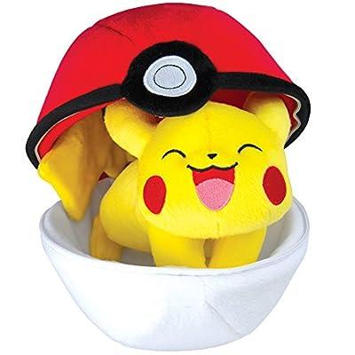 TOMY-t19364-Peluche-Pikachu y Poké Ball, con Cremallera