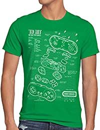 style3 16 Bit Contrôleur T-Shirt Homme jeu vidéo