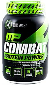 MusclePharm Combat Powder Advanced Time Release Protein, Chocolate Milk, 2 Pound