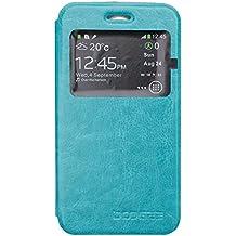 Guran® Funda de Cuero Para Doogee Leo DG280 Smartphone con Función de Soporte Flip Case Cover--azul