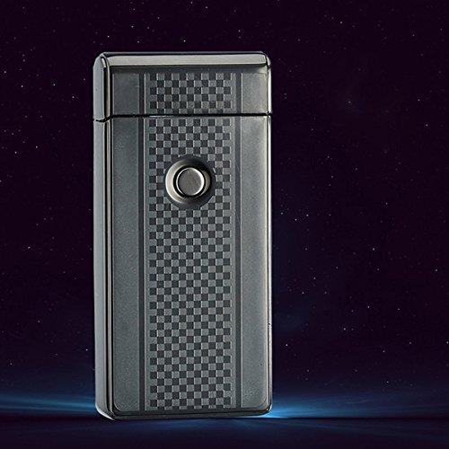 NUOLUX Elektrische Akku leichter Dual Arc flammenlose USB winddicht Zigarettenanz&uumlnder