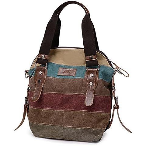 B-B Ladies Leisure Canvas Handbag Inclined Shoulder Bag