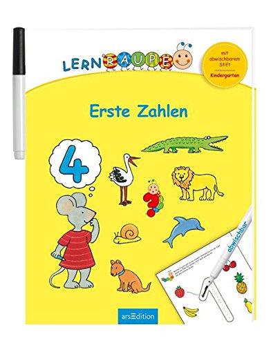 Lernraupe - Erste Zahlen: Mit abwischbarem Stift (Kindergarten-Lernraupe)