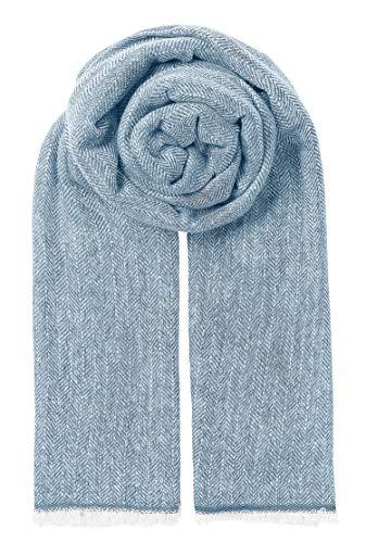 Becksöndergaard Damen Schal Hawkins Dusty Blue Blau | Frauenschal Lang & breit | Weich wärmend & anschmiegsam aus feiner Wolle - 717001-071 -