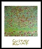 Gustav Klimt Apfelbaum Poster Bild Kunstdruck im Alurahmen schwarz 30x24cm