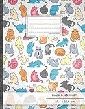 """Blanko Notizbuch • A4-Format, 100+ Seiten, Soft Cover, Register, """"Verückte Katzen"""" • Original #GoodMemos Blank Notebook • Perfekt als Zeichenbuch, Skizzenbuch, Blankobuch, Leeres Tagebuch"""