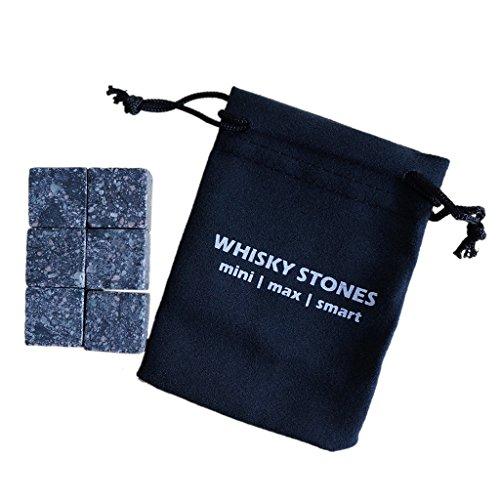 9pcs Whiskey Eis Steine Getränkekühler Würfel Rocks mit Beutel - Sternenlicht