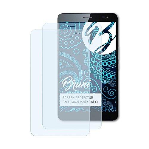 Bruni Schutzfolie für Huawei MediaPad X1 Folie, glasklare Bildschirmschutzfolie (2X)