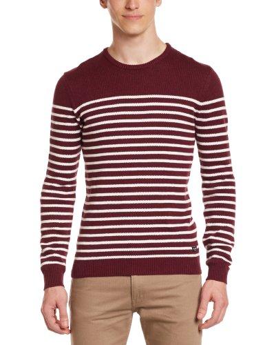 Globe Saxon Herren Pullover, Herren, Saxon Sweater, Port, FR : rot - Port