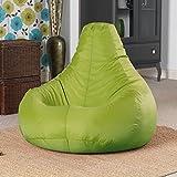 Bean Bag Bazaar - Poltrona a sacco reclinabile da interni ed esterni (resistente all'acqua), colore: Verde Lime immagine
