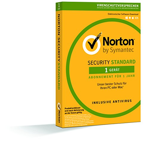 Norton Security Standard Antivirus Software 2018 / Zuverlässiger Virenschutz (Jahres-Abonnement) für 1 Gerät / Download für Windows (u.a. Vista, 8 & 10), Mac, Android & - Sicherheit-video-direct