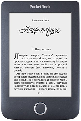 "Pocketbook Basic 3 Touchscreen 8GB Wi-Fi Black e-book reader - E-Book Readers (15.2 cm (6""), E Ink Carta, 800 x 600 pixels, CHM,DOC,DOCX,DjVu,EPUB DRM,FB2,FB2.ZIP,HTM,HTML,MOBI,PDF,PRC,RTF,TXT,ePub, BMP,JPG,PNG,TIF, 8 GB)"